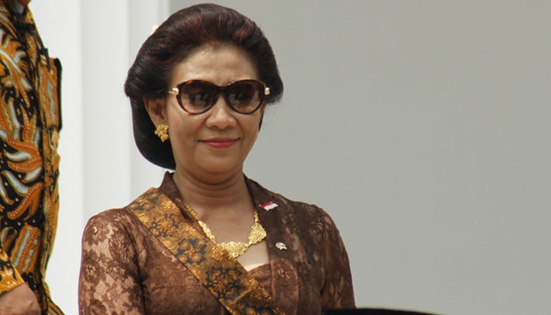 Pudjiastuti, Indonesia's mew Minister of Marine and Fisheries.
