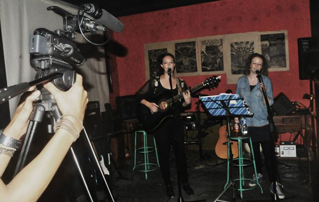 Ayleen & I doing a duet - photo by Debin Digicore